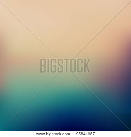 Abstract colorful blurred vector background. Element for your website or presentation. Blue and green color. Grunge.
