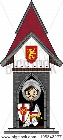 Knight At Castle Gate.eps