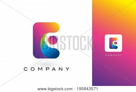 E Logo Letter With Rainbow Vibrant Colors.X Colorful Modern Trendy Purple and Magenta Letters Vector Illustration.