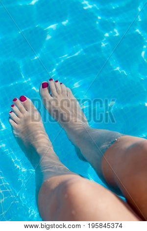 Feet in the pool