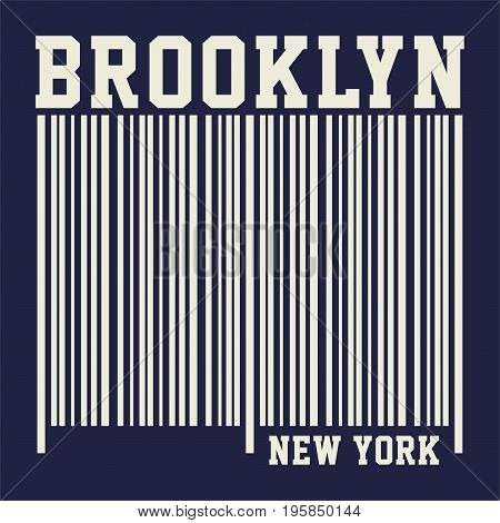 graphic design BROOKLYN NEW YORK for shirt and print