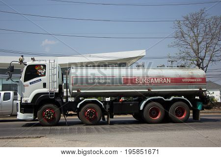 Trailer Truck And Palm Oil Tank Truck Of Suksamran Transport.
