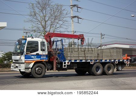 Truck With Crane Of Piboon Concrete.