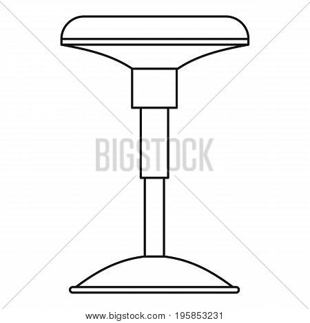 Floor lamp icon. Outline illustration of floor lamp vector icon for web