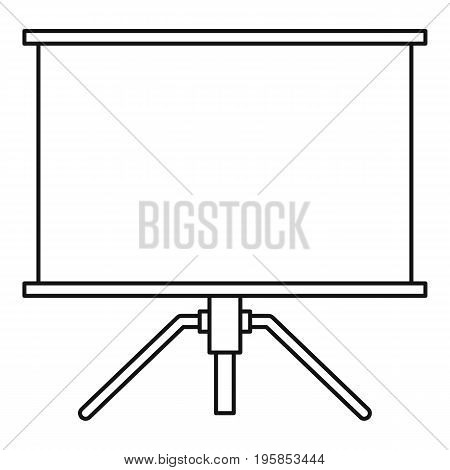 Projector icon. Outline illustration of projector vector icon for web