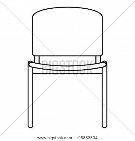 Office chair icon. Outline illustration of office chair vector icon for web