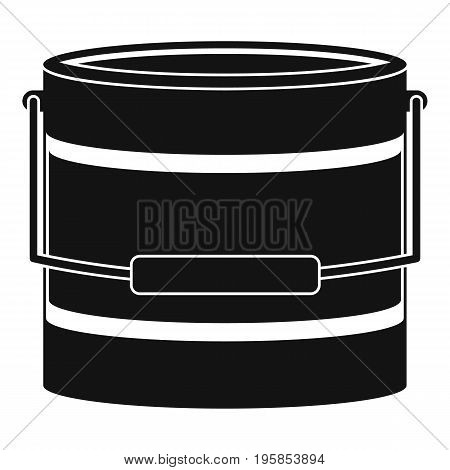 Bucket icon. Simple illustration of bucket vector icon for web
