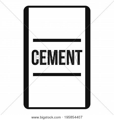 Cement icon. Simple illustration of cement vector icon for web