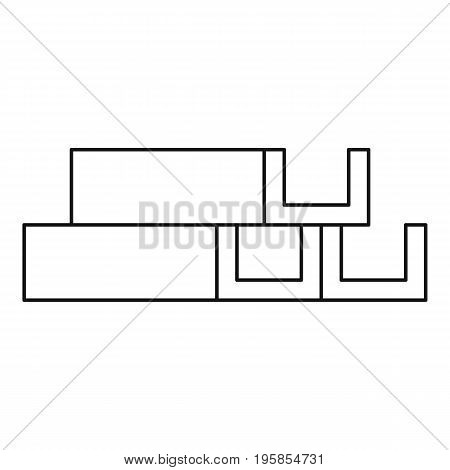 Metal corner icon. Outline illustration of metal corner vector icon for web