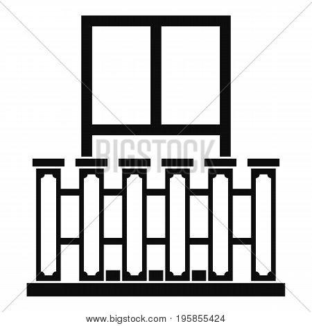 Window with columns icon. Simple illustration of window with columns vector icon for web