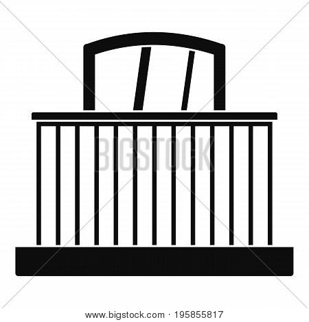 Window with fence icon. Simple illustration of window with fence vector icon for web