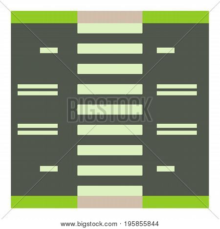 Road with pedestrian zone icon. Cartoon illustration of road with pedestrian zone vector icon for web