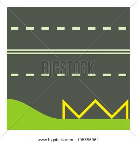 Metalled road icon. Cartoon illustration of metalled road vector icon for web