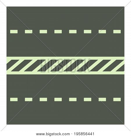 Highway icon. Cartoon illustration of highway vector icon for web