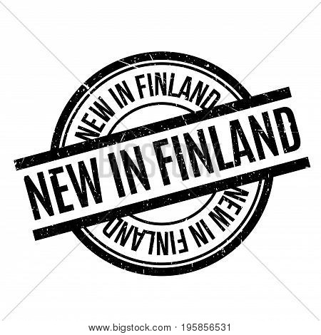 New In Finland rubber stamp. Grunge design with dust scratches. Effects can be easily removed for a clean, crisp look. Color is easily changed.