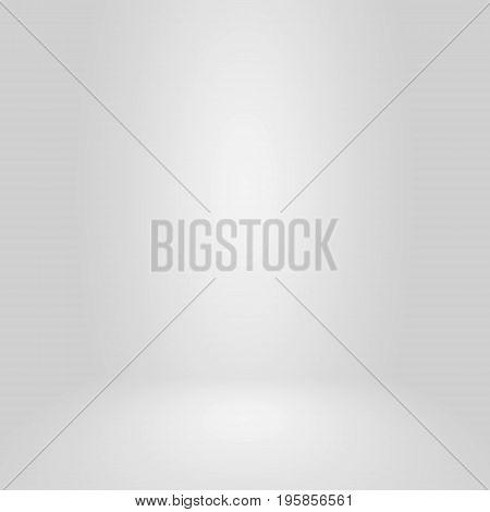 Empty Circular Dark Grey Gradient With Black Solid Vignette Lighting Studio Wall And Floor Backgroun