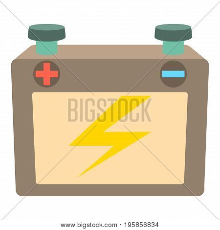 Battery icon. Cartoon illustration of battery vector icon for web