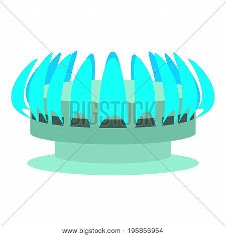 Turbine icon. Cartoon illustration of turbine vector icon for web