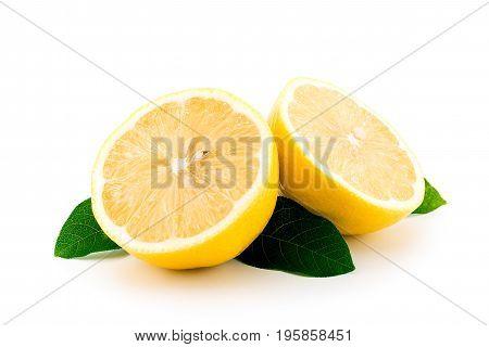 Lemon On White Background, Isolated