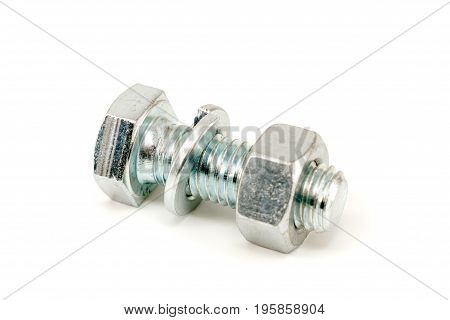 Metal Bolt With Nut And Washer