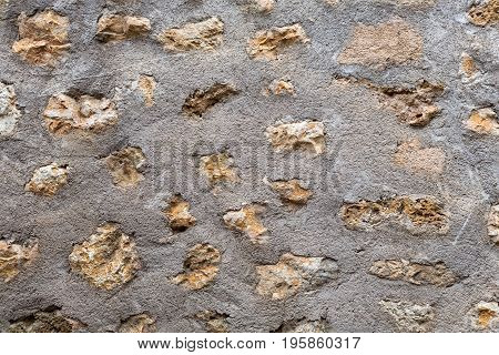 Background stones to cement with sand natural