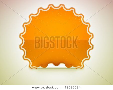 Orange Spotted Hamous Sticker Or Label