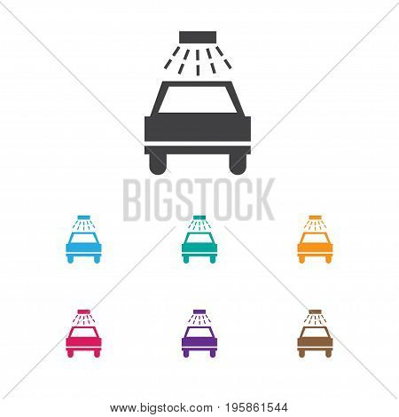 Vector Illustration Of Car Symbol On Car Lave Icon