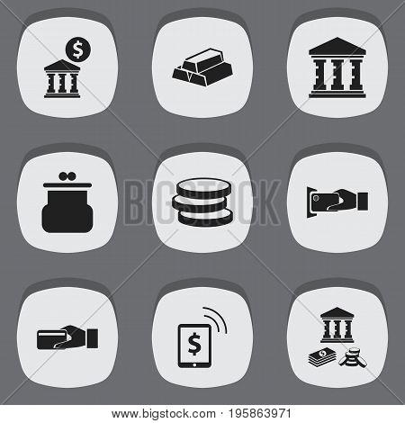 Set Of 9 Editable Investment Icons. Includes Symbols Such As Gold, Savings, Freelance Income And More