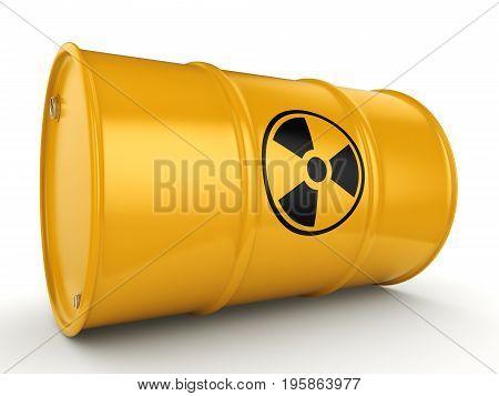 3D Rendering Radioactive Barrel