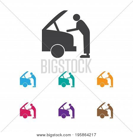 Vector Illustration Of Transport Symbol On Fixing Icon