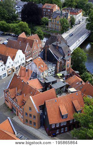 View of Hansestadt Lueneburg, Germany
