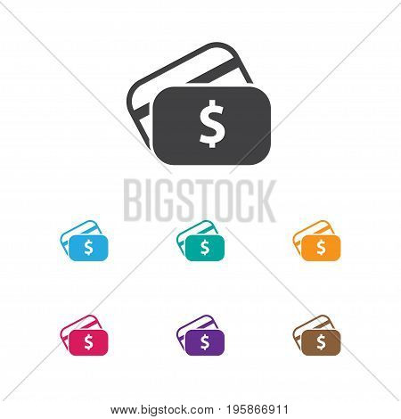 Vector Illustration Of Business Symbol On Credit Card Icon