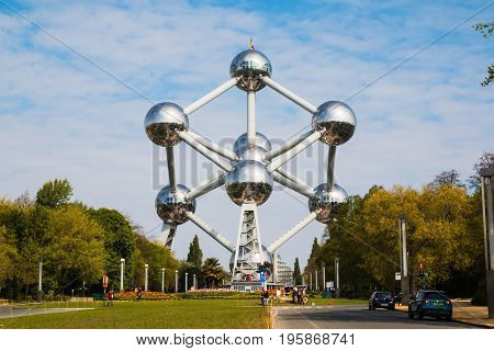 Atomium On The Street Of Brussels In 2017