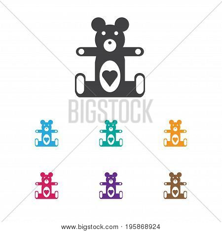 Vector Illustration Of Infant Symbol On Teddy Icon