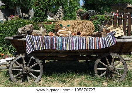 Horse Cart For Decoration