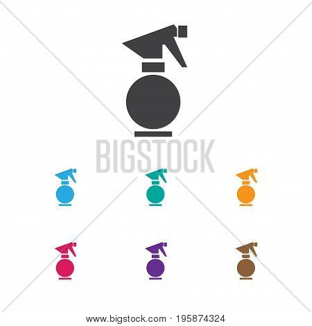 Vector Illustration Of Barbershop Symbol On Window Cleaner Icon
