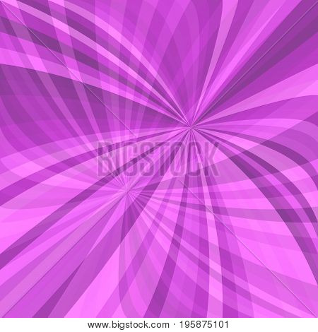 Purple abstract curved ray burst background - vector illustration from curved rays