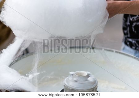The Process Of Making Cotton Candy, Close-up