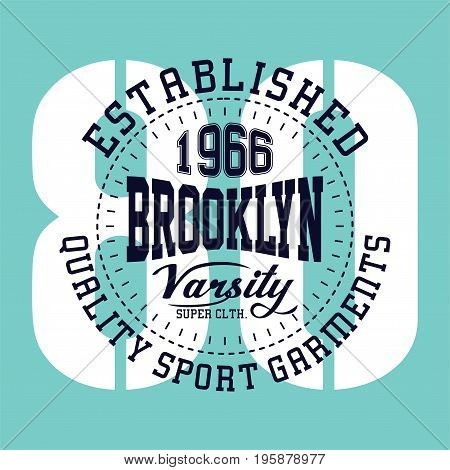 graphic design brooklyn varsity for shirt and print