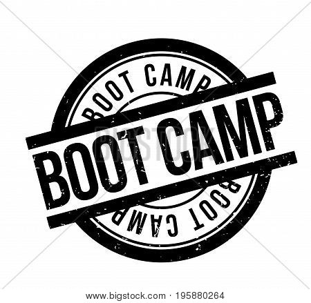 Boot Camp rubber stamp. Grunge design with dust scratches. Effects can be easily removed for a clean, crisp look. Color is easily changed.