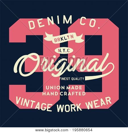 graphic design denim co brooklyn original for shirt and print