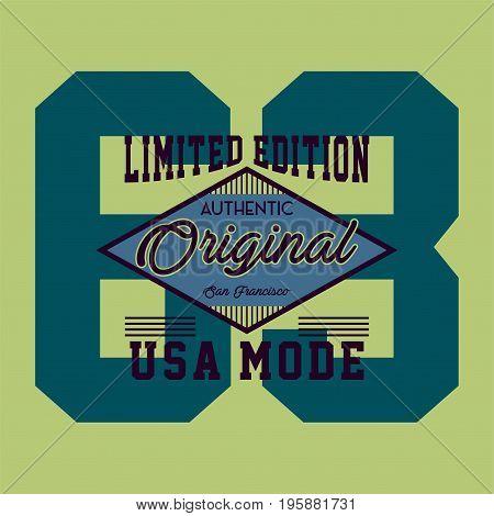 graphic design original usa mode for shirt and print