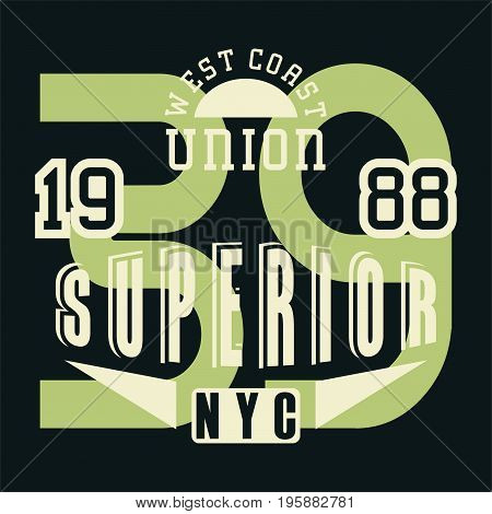 graphic design union superior for shirt and print