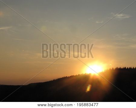 nature at sunset with clear sky It is a wonderful weather