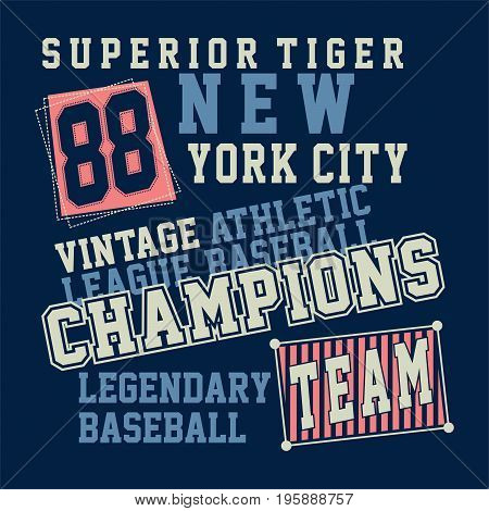 graphic design SUPERIOR TIGER NEW YORK for shirt and print