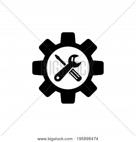 Service Tools vector icon. Technical support repair symbol on white background.