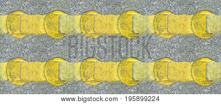 Asphalt yellow line with background appearance - tile