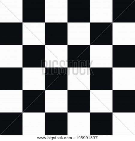 Checkered seamless pattern. Abstract black and white geometric background. Vector illustration.