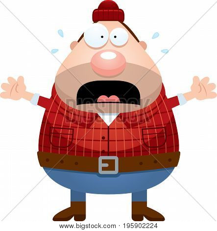 Scared Cartoon Lumberjack