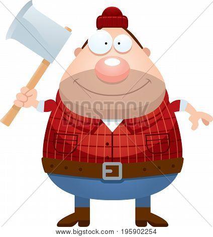 Happy Cartoon Lumberjack